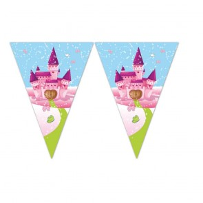 1 Triangle Flag Banner (9 flags) - Unicorn