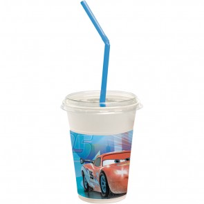 12 Milkshake Cups - Cars Ice