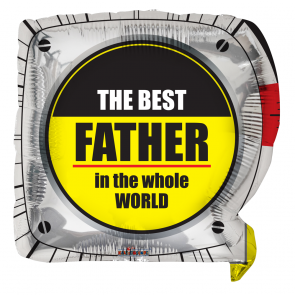 "Foilballoon shape  ,  18""  -  pr best father shape"