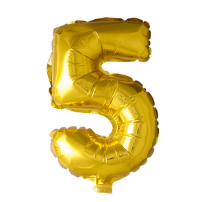 Foilballoon No. 5 , 16'' - gold