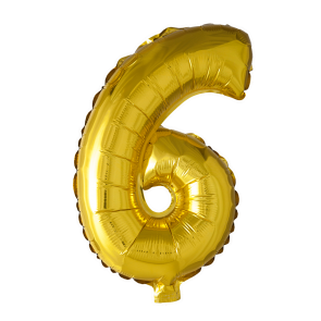 Foilballoon No. 6 , 16'' - gold