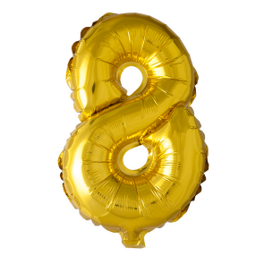 Foilballoon No. 8 , 16'' - gold