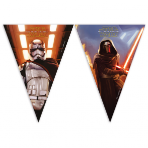 1 Triangle Flag Banner (9 flags) - Star Wars The Force Awakens