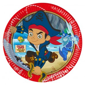 8 Paper Plates Large 23cm - Captain Jake
