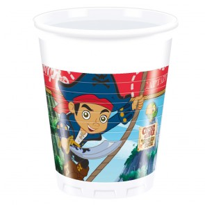 8 Plastic cups 200ml - Captain Jake