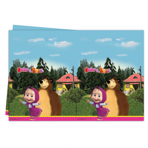 1 Plastic Tablecover 120x180cm - Masha and The Bear
