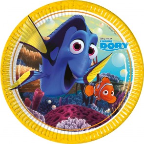 8 Paper Plates Large 23cm - Finding Dory