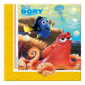 20 Two-Ply Paper Napkins 33x33cm - Finding Dory