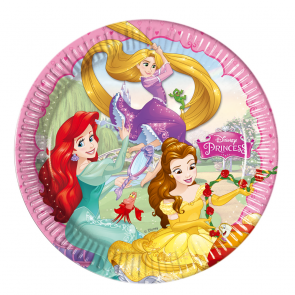 8 Paper Plates  Large 23cm - Princess Dreaming