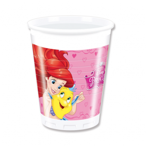8 Plastic Cups 200 ml - Princess Dreaming