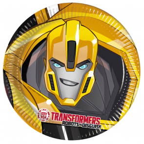 8 Paper Plates Large  23cm - Transformers Power Up