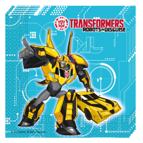 20 Two-ply Paper Napkins 33x33cm - Transformers Power Up