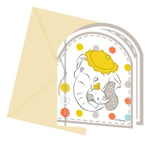 6 Die-cut invitations & envelopes - Baby Shower