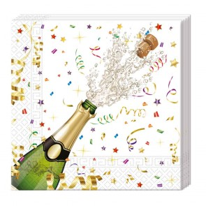 20 Three-ply Paper Napkins 33x33cm - Sparkling Celebration