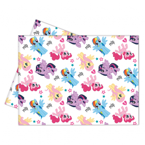 1 Plastic Tablecover 120x180cm - Pony & Friends