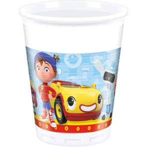 8 Plastic cups 200ml  -  Noddy