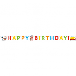 1 Happy Birthday Die-Cut Banner  -  Noddy