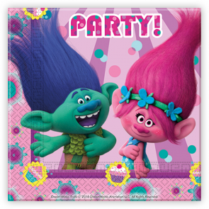 20 Two-Ply Paper Napkins 33x33cm - Trolls