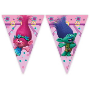 1 Triangle Flag Banner - Trolls