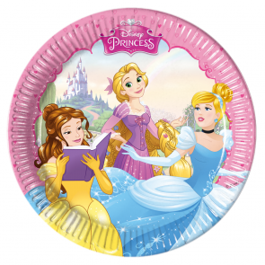 8 Paper Plates Medium  20cm - Princess Dreaming