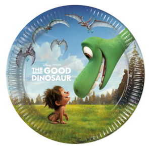 8 Paper Plates Medium 20cm - The Good Dinosaur