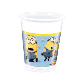 8 Plastic cups 200ml - Lovely Minions