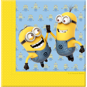 20 Two-Ply Paper Napkins 33x33cm - Minions