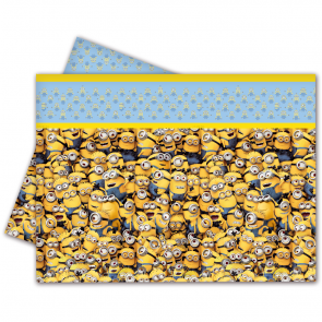 1 Plastic Tablecover 120x180cm - Minions
