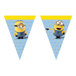 1 Triangle Flag Banner (9 flags) - Minions