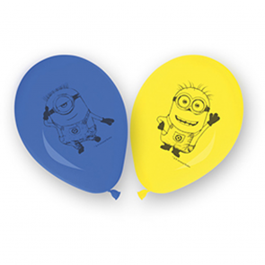8 11 Inches Printed Balloons - Minions