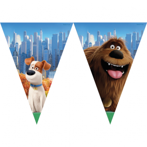 1 Triangle Flag Banner - Secret Life of Pets