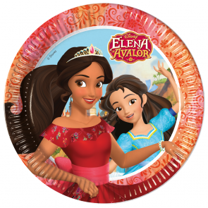 8 Paper Plates  Large 23cm  -  Elena of Avalor