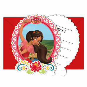 6 Die-cut Invitations & Envelopes  -  Elena of Avalor