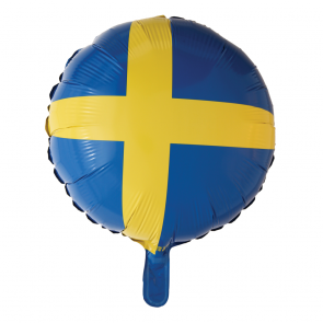 foilballoon Swedish flag , 18''