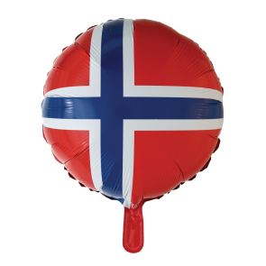 foilballoon Norwegian flag , 18''