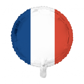 "Foilballoon round, 18""- French flag"