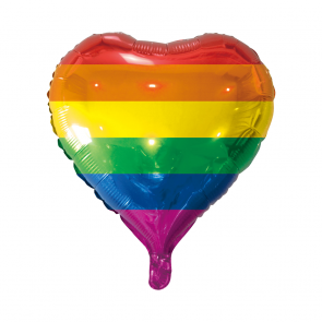 "Foilballoon heartshape, 18""- rainbow flag"