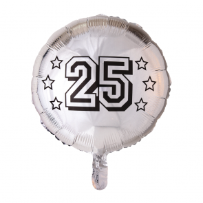 foilballoon 25th anniversary , 18''