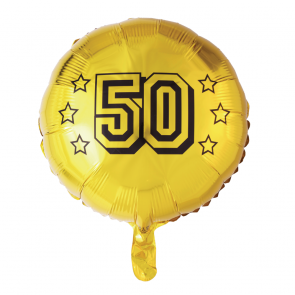 foilballoon 50th anniversary , 18''