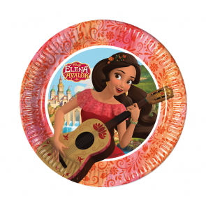8 Paper Plates Medium  20cm  -  Elena of Avalor