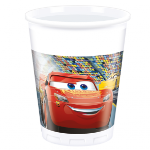 20 Plastic Cups 200 ml  -  Cars 3