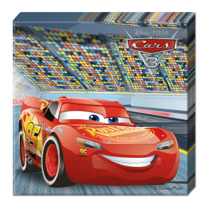 1 Two-ply Paper Napkins 33x33cm  -  Cars 3