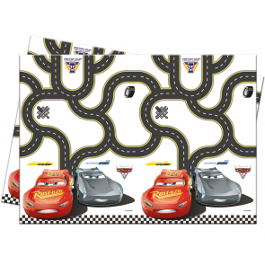 6 Plastic Tablecover 120x180cm  -  Cars 3