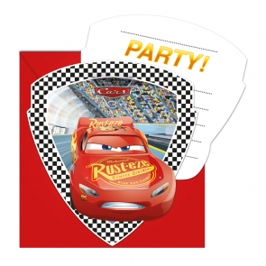 1 Die-cut Invitations & Envelopes  -  Cars 3