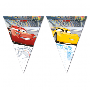 1 Triangle Flag banner ( 9 flags )  -  Cars 3