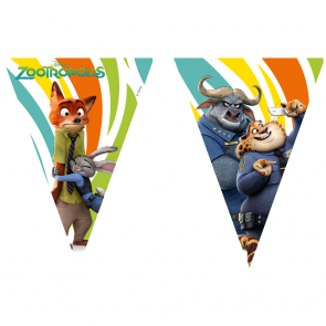 1 Triangle Flag Banner ( 9 flags ) - Zootropolis