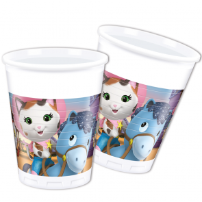 8 Plastic Cups 200 ml  -  Sheriff Callie
