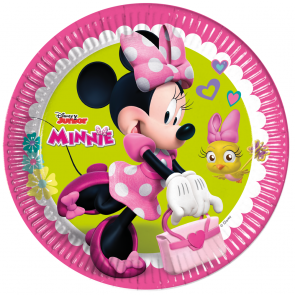 8 Paper Plates Large 23cm  -  Minnie Happy Helpers