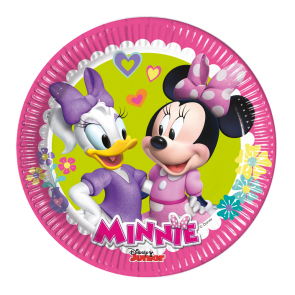 8 Paper Plates Medium 20cm  -  Minnie Happy Helpers