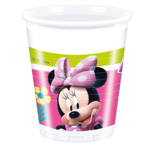 8 Plastic Cups 200ml  -  Minnie Happy Helpers